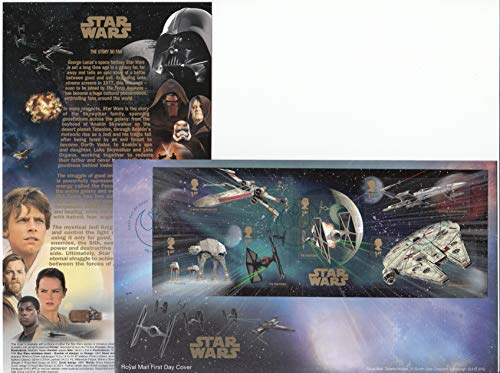 (Royal Mail Star Wars The Force Awakens - Official Stamp Sheet Souvenir First Day Cover Collectible Postage Stamps)