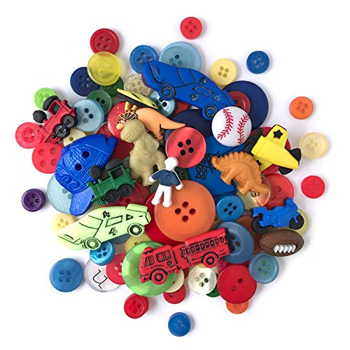 Buttons Galore 50-Value Pack Boys Button