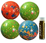 JUMBO JAWBREAKERS Sconza 2 1/4'' Psychedelic Sours (Wrapped) - 4 Pack (1 lb) with a Jarosa Bee Organic Chocolate Bliss Lip Balm