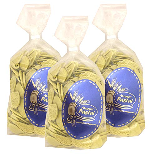 Maestri Pastai, Foglie Di Carciofo Pasta (Artichoke Pasta) (Pack of 3), Imported from Mercato San Severino, Italy, 17.66 oz (each)