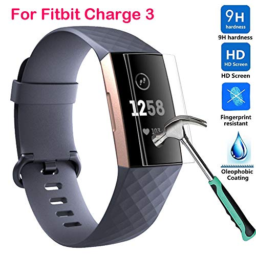 for Fitbit Charge 3 Screen Protector, 9H Explosion-Proof TPU HD Full Cover Screen Protector Film for Fitbit Charge 3 Fitness Activity Tracker