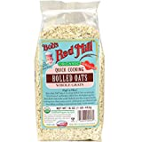 Bob's Red Mill - Organic Quick Rolled Oats, 16 Ounces (Pack of 4)