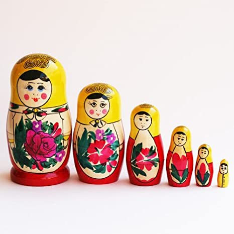 d3c79c3b3ad8 Amazon.com  Made in Russia Semenov Wooden Russian Nesting Dolls ...