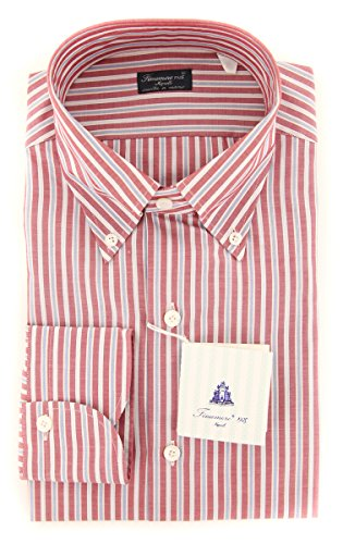 Finamore New Napoli Red Striped Slim Shirt (Shirt Napoli Red)