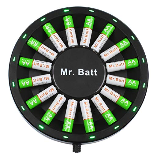 - Mr.Batt NiMH Rechargeable AA Batteries (16 Pack) with AA AAA Battery Charger for NiMH NiCD Rechargeable Batteries