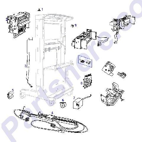 HP C4779-60510 HP LaserJet 8000/8100/8150/8500/8550 Stacker Controller Board Fr