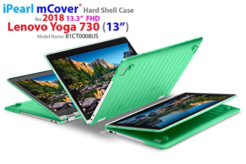 mCover Hard Shell Case for New 2018 13.3 Lenovo Yoga 730 (13) Laptop (NOT Compatible with Yoga 710/720 / 910/920 Series) (Yoga 730 Green)