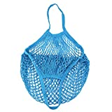Solid Mesh Bag,Fashion Shopping Bag Reusable Fruit Storage Handbag Totes (F)