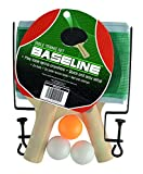 Baseline Table Tennis Ping Pong Set with 2 Bats, 3 Balls and Net