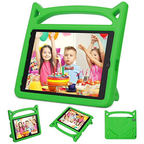 New iPad 9.7 2018/2017 Case,iPad Air 2 Kids Case-Ubearkk Kids Shockproof Light Weight Handle Friendly Stand Kids Case Cover for New Apple Education iPad 9.7 Inch (6th Gen) / 5th Generation (Green)