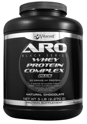 ARO-Vitacost Black Series Whey Protein Complex PLUS Natural Chocolate -- 5 lb (2270 g) ()