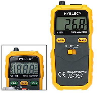 HYELEC PEAKMETER MS6501 LCD Display Termostato Digital Thermometer K Type Thermocouple Termometer: Amazon.com: Industrial & Scientific