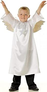 Boys or Girls Angel Gabriel Nativity Fancy Dress Costume 3-5 years ...