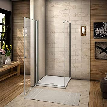 Aica Italia - Mampara de ducha, 76 x 80 cm, esquina, puerta de ...