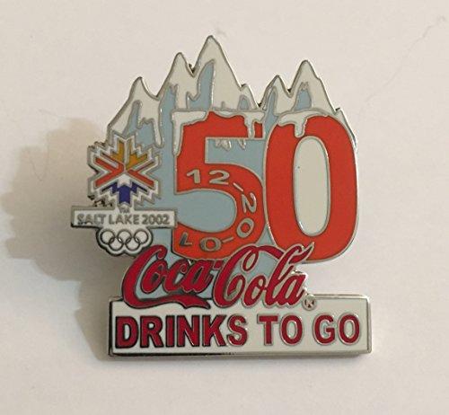 Rare Coca-Cola Drinks To Go Salt Lake City Winter Olympics Countdown Pin LE/500-50 Days Left