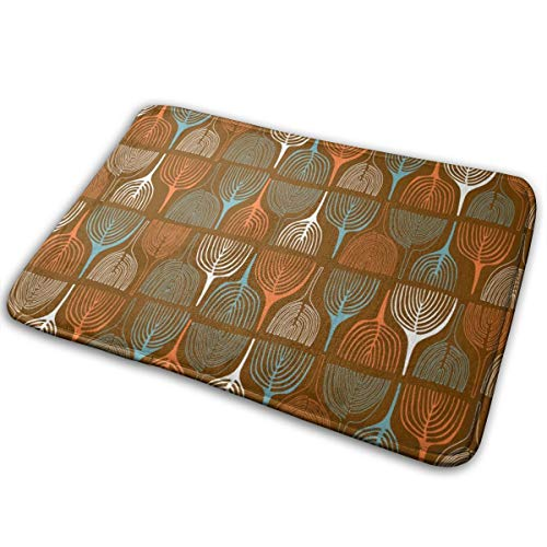Kui Ju Non-Slip Doormat Entrance Rug Fade Resistant Floor Mats Annual Ring Shoes Scraper 23.6x15.7x0.39Inch