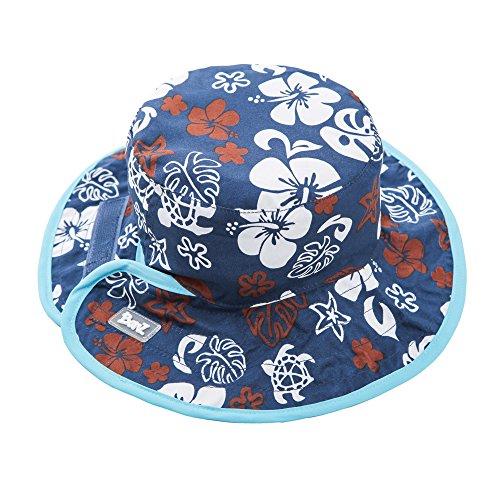 Baby BanZ UV Reversible Bucket Hat, Blue/Brown , 0-24 Months