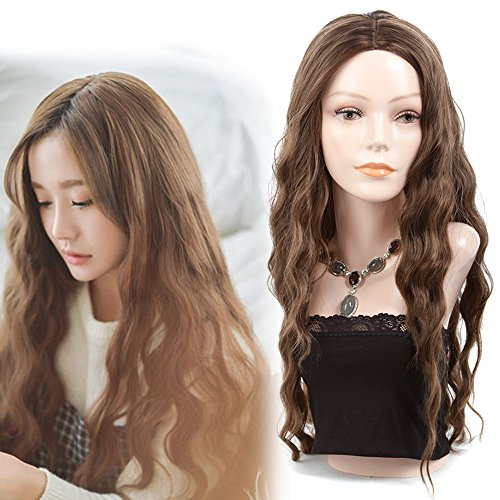 Ladies Very Long Wavy Brown Synthetic Wigs For Women 28