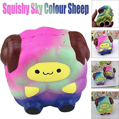 2019HoHo Squeeze Toys Cute Cartoon Sheep Anti Stress Anxiety Toys Sqishy Soft Vent Toys for Adults Kids