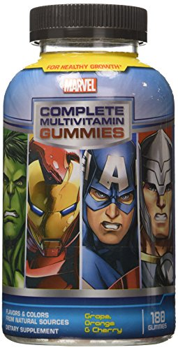 Marvel Avengers Complete Multi-Vitamin Gummies, 180 Count