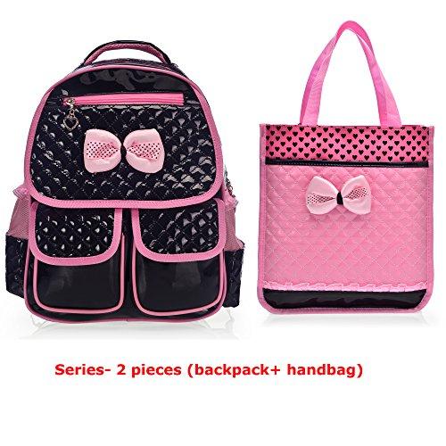 Black Patent Lunch Bag - 4