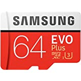 Samsung EVO Plus Micro SDXC 64GB up to 100MB/s, Memory Card (including SD Adapter) [Amazon Frustration Free Packaging],MB-MC64GA/AMZ