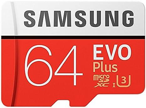 Samsung EVO Plus Tarjeta de memoria microSD de GB con adaptador SD