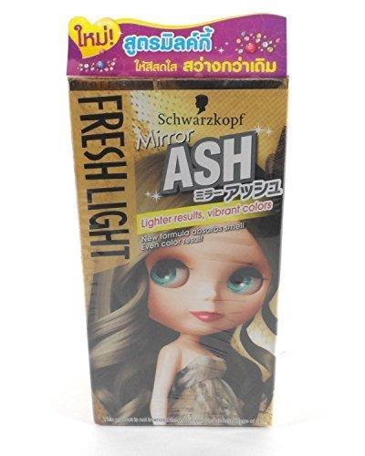 Schwarzkopf Fresh Light Hair Mirror ASH Color, Lightter Results Vibrant Colors 1 Box Thailand