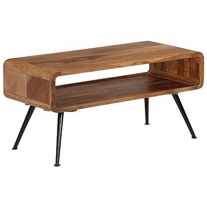 ROMELAREU cm 40 45 x 95 Bois Table x Massif de Basse Sesham SULqMGVzp