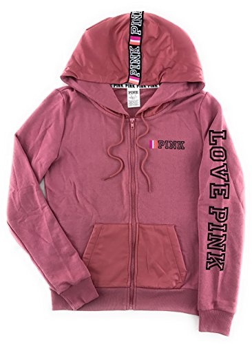 Victoria's Secret PINK Perfect Zip Hoodie Soft Begonia X-Small by Victoria's Secret