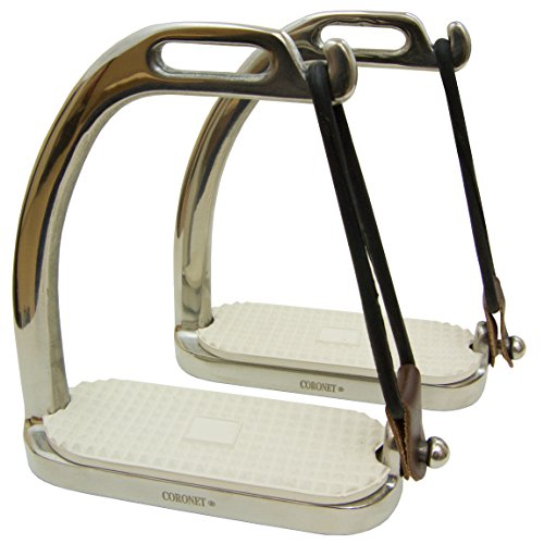 (Coronet Fillis Peacock Safety Stirrup Irons with Pad, 4 3/4-Inch)