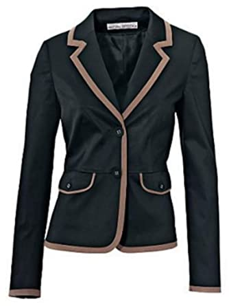 finest selection 17dc5 7a1b5 Blazer Short Blazer by Ashley Brooke in Black Taupe - Black Taupe, 40