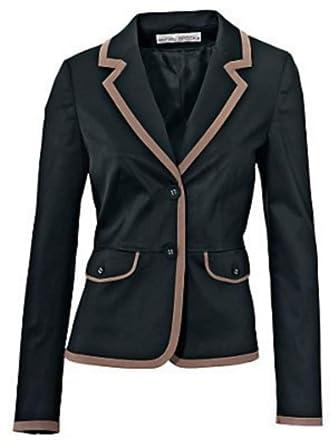 Americana chaqueta corta de ASHLEY BROOKE en negro / Gris ...
