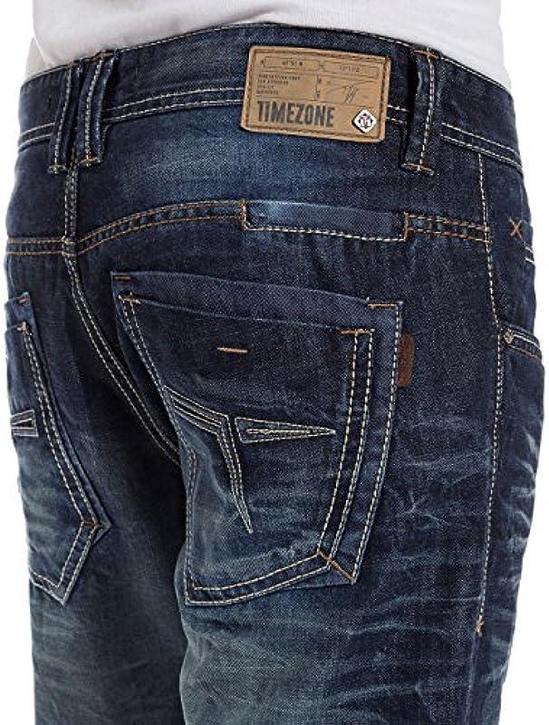 Timezone GerritTZ męskie spodnie jeansowe Regular Fit: Odzież