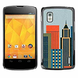 Shell-Star ( Minmalist Cityscape ) Fundas Cover Cubre Hard Case Cover para LG Google NEXUS 4 / Mako / E960