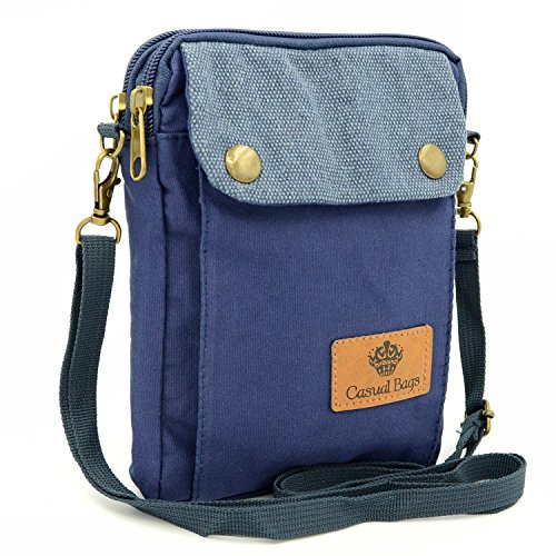 Mopaclle Canvas Small Cute Crossbody Bag Cellphone Wallet Purse Travel Pouch with Shoulder Strap for iPhone X 8 7 Plus 6S/6 Samsung Galaxy note 8, Samsung Galaxy S7 Edge S8 Edge