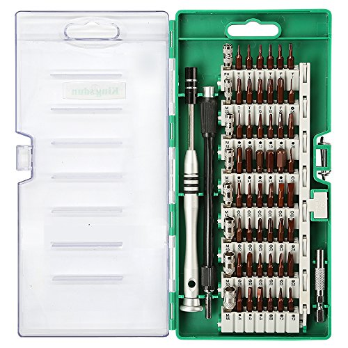 Kingsdun Precision Screwdriver Set, 60 in 1 Magnetic Driver Kit with 56 Mini Multi Bit Sets,Professional Repair Tool Kit for Iphone/Ipad /Macbook/PC/ Laptop/Xbox /Watches & Eyeglasses ()