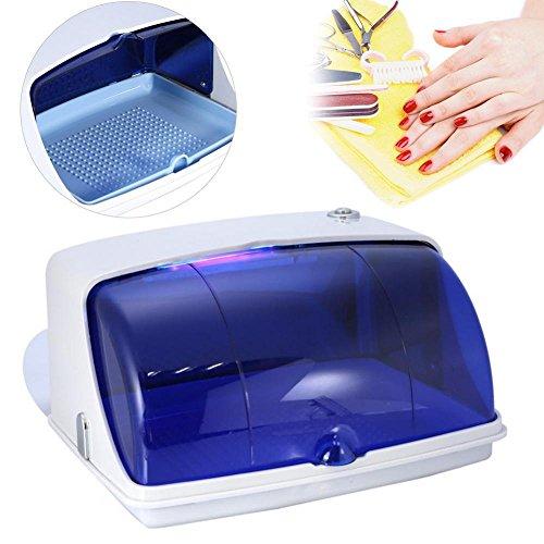 Salon UV Ultraviolet Disinfection Sterilizer Temperature Sanitizer Cabinet(White)