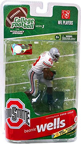 McFarlane Sportspicks: NCAA Football Series 3 Beanie Wells - Ohio State - Silver Level Variant White Jersey Action ()