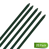 UniEco Garden Stakes 4FT Plant Stakes for Staking Tomatoes 20Pack