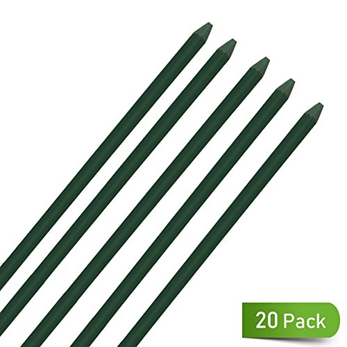 UniEco Garden Stakes 5FT Plant Stakes for Staking Tomatoes 20Pack by UniEco