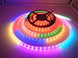 WS2813 LED Strip Light, Dream Color 16.4ft(5m) 300Leds RGB SMD 5050 LED Rope Lighting, DC 5V IP67 Waterproof Individually Addressable Color Changing LED Tape Lights for Home Lighting Kitchen Christmas Indoor & Outdoor Decora