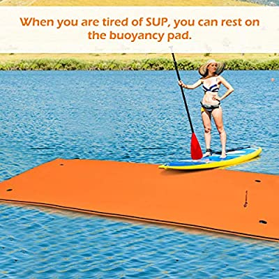 Goplus 12' x 6' Floating Water Pad Mat, Tear-Resistant XPE Foam, Bouncy and Durable Material, for Pool, Beach, Ocean, Lake: Toys & Games