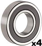 6203rs bearing - 6203-2RS Sealed Bearing - 17x40x12 - Lubricated - Chrome Steel (4 PCS)