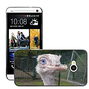 Super Stella Slim PC Hard Case Cover Skin Armor Shell Protection // M00147550 Ostrich Head Bird Wings Wildlife // HTC One M7