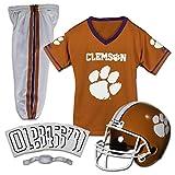 Franklin Sports NCAA Clemson Tigers Kids College Football Uniform Set - Youth Uniform Set - Includes Jersey, Helmet, Pants - Youth Medium