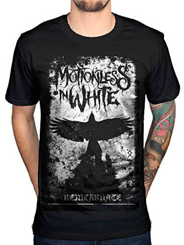 AWDIP Men's Official Phoenix Motionless In White T-Shirt MIW Gothic Heavy Metal Band ()