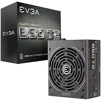 EVGA SuperNOVA 850 T2, 80+ TITANIUM 850W, Fully Modular, EVGA ECO Mode, 10 Year Warranty , Includes FREE Power On Self Tester, Power Supply 220-T2-0850-X1