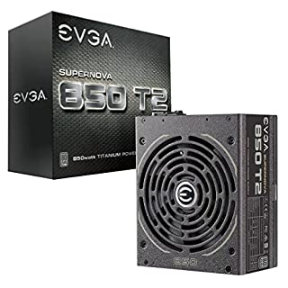 EVGA Supernova 850 T2, 80+ Titanium 850W, Fully Modular, ECO Mode, 10 Year Warranty, Includes Free Power On Self Tester, Power Supply 220-T2-0850-X1 (B018JYHGOQ) | Amazon Products