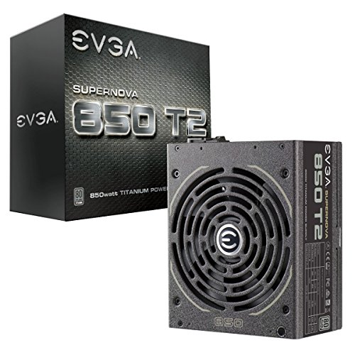 Bronze Novo Double Handle - EVGA Supernova 850 T2, 80+ Titanium 850W, Fully Modular, ECO Mode, 10 Year Warranty, Includes Free Power On Self Tester, Power Supply 220-T2-0850-X1